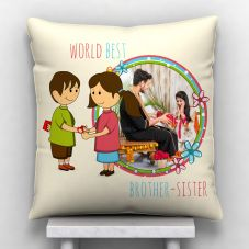 World Best Brother Sister Personalized Pillow