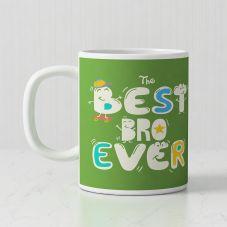 The Best Bro Ever White Ceramic Personalized Mug
