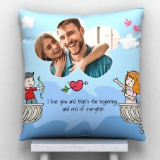GiftsOnn Lovely Quote Cushion With Cover (12x12, White)