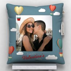 Happy valentine's day Photo Printed Cushion With Cover - 12x12