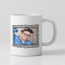 Good Luck Bro Personalized Photo Print Ceramic Mug (White, 3.7x3.2in, 320ml)