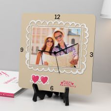 Happy Anniversary Personalized Square Clock