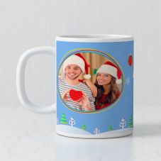 Merry Christmas White Ceramic Personalized Mug