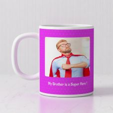 My Brother is a Super Hero Quote With 1 photo- 320ml,Set of 1