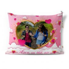 Love is in the air photo printed cushion with cover 12x15