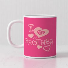 I Love My Brother Quote With 1 Photo mug