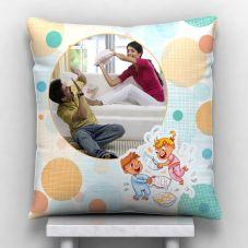 Raakhi Photo Personalized Satin Pillow - White,12*12 inch