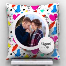 valentine's day Photo Printed Cushion With Cover - 12x12
