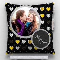Love You Forever Photo Printed Cushion With Cover - 12x12