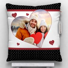 GiftsOnn Photo printed Cushion With Cover (12x12, White)