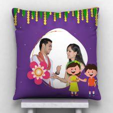 Raakhi Personalized Satin Pillow- White, 12*12