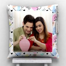 GiftsOnn Personalized Lovely Cushion With Cover (12x12, White)