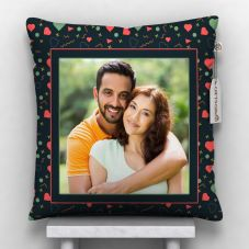 Personalized Cushion With Cover (12x12, White)