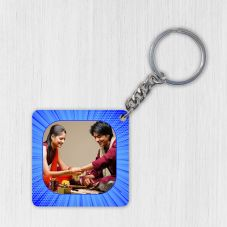 GiftsOnn Square Wooden Keychain