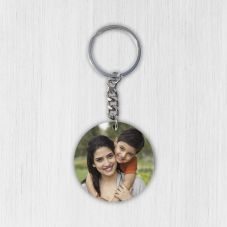 Customized Round Mdf Photo Key Chain
