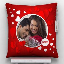 love Photo Printed Cushion With Cover - 12x12 inch