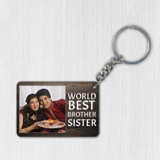 World Best Brother Sister Personalized Keychain