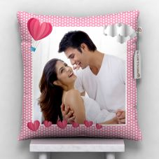 Happy valentine's day Printed Cushion With Cover -12x12 in