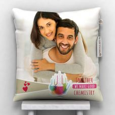 Together we make good chemistry printed pillow with cover
