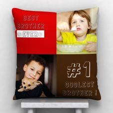 Best Brother Ever Quote With 2 photos Personalized Pillow