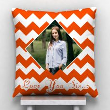 Love You Sis… Personalized Satin Pillow