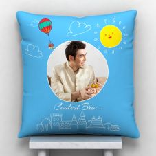 Coolest Bro…Personalized Satin Pillow 12*12 inch