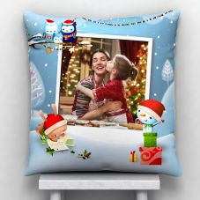 Photo Satin Pillow/Cushion- White, 12*12