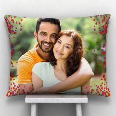 Heart design with photo Printed Cushion With Cover - 12x15 inch