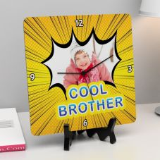 Cool Brother Wooden Personalized Clock
