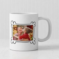 Merry Christmas Quote With 1 Photo Personalized mug
