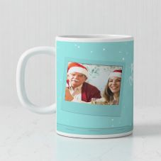Merry Christmas Quote With 1 Photo mug