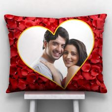 Photo printed Cushion With Cover (12x15, White)
