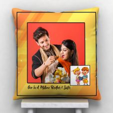 One In A Million Sister Photo Personalized Cushion White-12*12