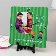Happy Raksha Bandhan Personalized Square Clock