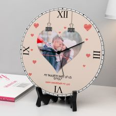 Happy Anniversary My Love Personalized Round Clock