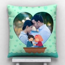 GiftsOnn Hearts Personalized Satin Cushion With Cover