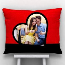 GiftsOnn Photo printed Cushion With Cover (12x15, White)