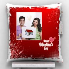 happy valentine's day Printed Cushion With Cover