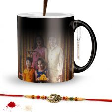 Rakhi Combo for Raksha Bandhan Printed Magic mug with rakhi