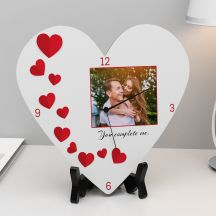 You Complete Me Anniversary Heart Clock