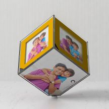 Personalized Rotating LED Cube With Your Photos