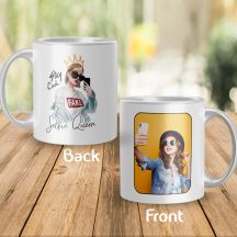 GiftsOnn Salfie Queen Personalized White Mug