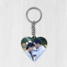 GiftsOnn Heart Photo Keychain