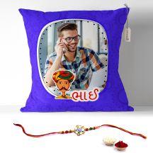 GiftsOnn Bhau Text Printed pillow for raksh bandhan