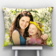 GiftsOnn White Color Personalized 12x15 inch Pillow