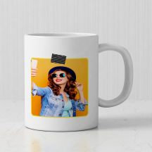 Wonderful Girl Quote with Personalized White Mug( 3.7x3.2in, 320ml)