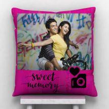 GiftsOnn Sweet Memory  photo Personalized Satin Cushion - White