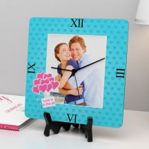 Love Is In the air Square Clock By GiftsOnn