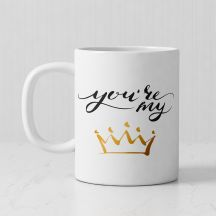 Your Are My Queen Personalized White Mug