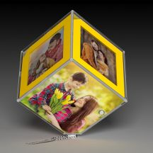 GiftsOnn Led Photo Cube with Photos and 3 AAA Battery